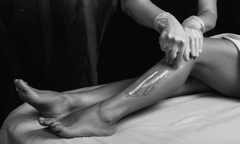 Female having legs waxed, Female waxing Broadstone, Female sugaring Broadstone